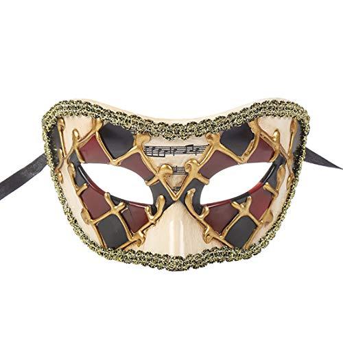 Paare Griechisch Kostüm Römische - TAAMBAB Venezianische Maske Im Klassischen Stil Mens Woman Kostüme Mardi Gras Mask Partei Maskerade Maske Griechisch Römische Halloween Maske Karneval Maske für Hochzeitsfeier Kostümzubehör