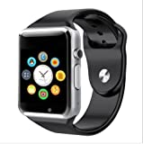 Videocon V1415+ Compatible Bluetooth Smart Watch supports 3G, 4G Phones Wrist Watch Phone with Camera & SIM Card Support Hot Fashion New Arrival Best Selling Premium Quality Lowest Price with Apps Touch Screen, Multi Language with Android Ios mobile tablet iphone Silver By JOKIN