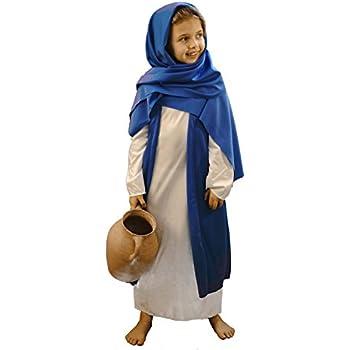 Nativity-Easter-World Book Day WHITE u0026 BLUE BIBLE VILLAGER / MARY Fancy Dress  sc 1 st  Amazon UK & Nativity-Easter-World Book Day WHITE u0026 BLUE BIBLE VILLAGER / MARY ...