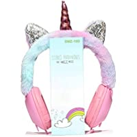 paaroots Unicorn Wired On Ear Headset with Mic (Pink)