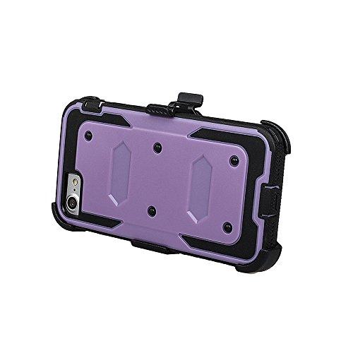 """xhorizon FM8 Eingebaut Schützender Stoßdämpfer Heavy Duty Schutz Schockreduzierung/Stoßstang Case für Apple iPhone 7 [4.7""""] (Blau) Lila"""