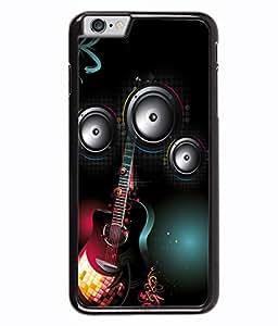 PRINTVISA The Guiter Premium Metallic Insert Back Case Cover for Apple Iphone 6 Plus - D5768