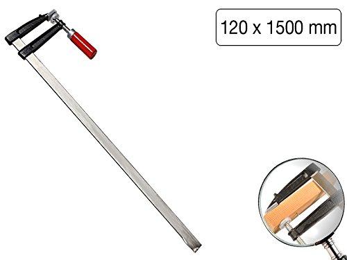 Schraubzwinge 1500 x 120mm mit Holzgriff