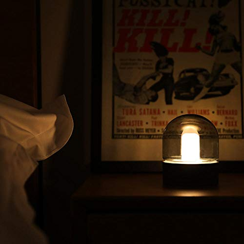 Glass lamp Bedroom Cafe bar USB Charging Breathing with Sleeping Lights@Tea Green