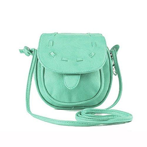 Schöne Kleine Mädchen (BZLine® Schöne süße Mädchen Leder Mini kleine Umhängetasche Handtasche Shoulder Bag (Mintgrün))