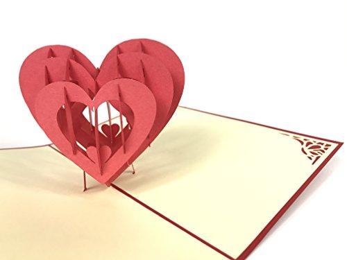 d 3D Pop up Grußkarten Jahrestag Baby Geburtstag Ostern Halloween Mutter Vater New Home NEW YEAR Thanksgiving Valentine Hochzeit Weihnachten ()