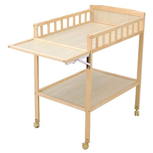 Klappbarer Wickeltisch für kleine Räume, Tragbare Kindergarten Säuglingswindel Massagestation Kommode für Haushaltsreisen, 0-3 Jahre alt (6 Farbe)