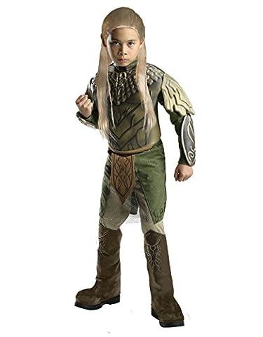 Der Hobbit Kinder-Set Deluxe-Legolas Grünblatt, groß, 8-10 Jahre, Höhe - 4'5'20.32 cm (Legolas Kostüm Kind Große)