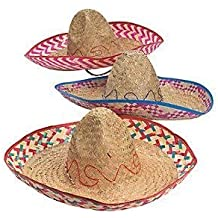 Cool Fun Adults Embroidered Woven Straw Sombreros (12 Pack) by Cool Fun