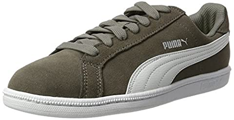 Puma Unisex-Kinder Smash Funsd Jr Sneaker, Grau (Steel Gray-White), 38 EU