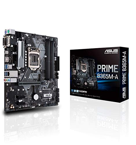 ASU Prime B365M-A - Placa Base (LGA 1151, Intel B365 chipset, soporta 14 NM CPU, 4 x DDR4, Intel HD Graphics, 7 x USB 3.1, 4 x USB 2.0, mATX)