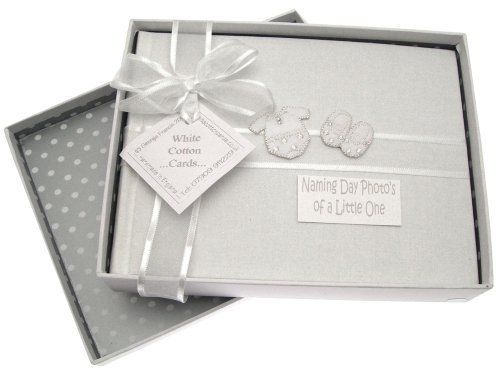 White Cotton Cards Naming Day Silver Clothes Small Album by White Cotton Cards