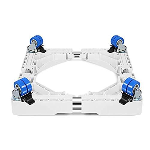 SH-lingbujian Multi-Funktions-bewegliche verstellbare Basis mit 4 & Times; 2 verriegelnden Gummi-Schwenkrädern mobiler Koffer-Rollwagen für Waschmaschine, Trockner und Kühlschrank