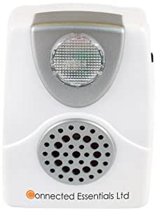 Audible & Visual Telephone Call AlertWith Flashing Light & Adjustable Ringing Volume (Low & High) - Suitable for Noisy Environments & The Hard Of Hearing – CEA-40 By Connected Essentials