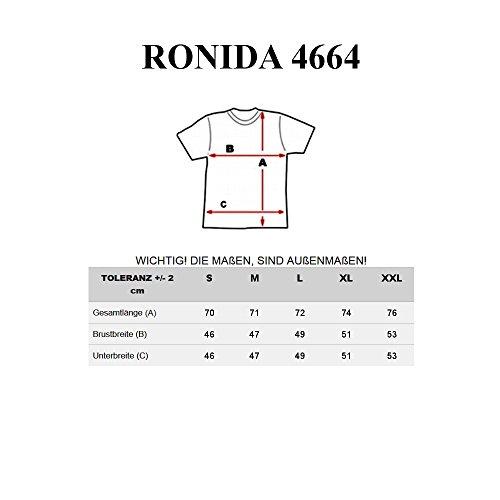RONIDA Herren T-shirt Figurbetont Kurzarm NEW! 4664 Schwarz
