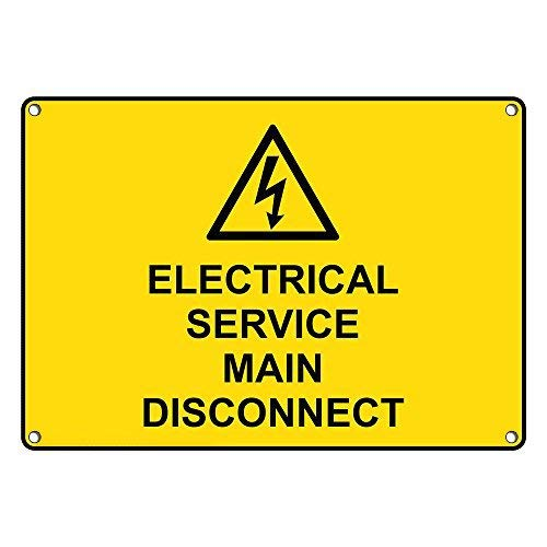 Tomlinsony Blechschild Metal Tin Sign Aluminum Electrical Service Main Disconnect Sign 8 X 12 Inch -