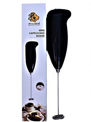 PRO365® Mini Hot/Cold Coffee Foamer/Lemonade/Sharbat/Lassi Frother (Black)