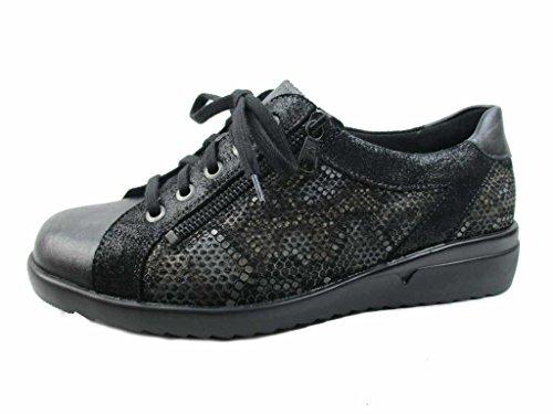 Solidus 4900020342, Chaussures de ville à lacets pour femme Noir
