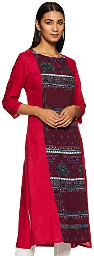 Amazon Brand - Tavasya Women's Rayon Panelled K