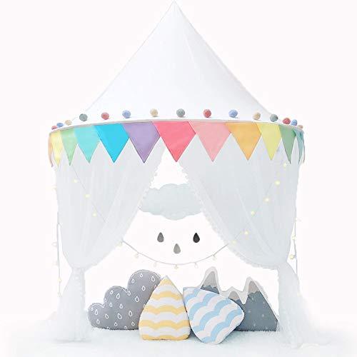 Nordic Ideas Décoration de Lit Bébé Ciel de Lit Baldaquin Enfant Arc en Ciel Moustiquaire de Lit Tente Cadeaux Anniversaire