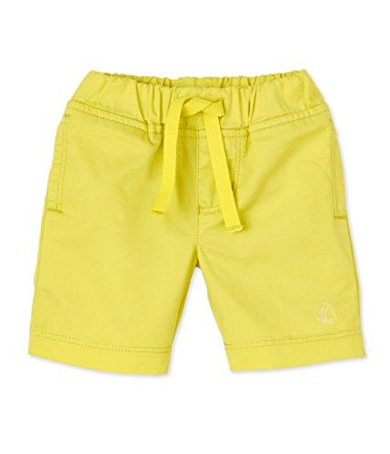 Petit Bateau Baby-Jungen Shorts 22821, Gelb (Acidul 36), 80 (Herstellergröße: 12m/74cm)