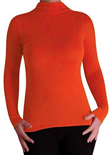 EyeCatch - Aux Femmes De Base Extensible Polo Cou Orange