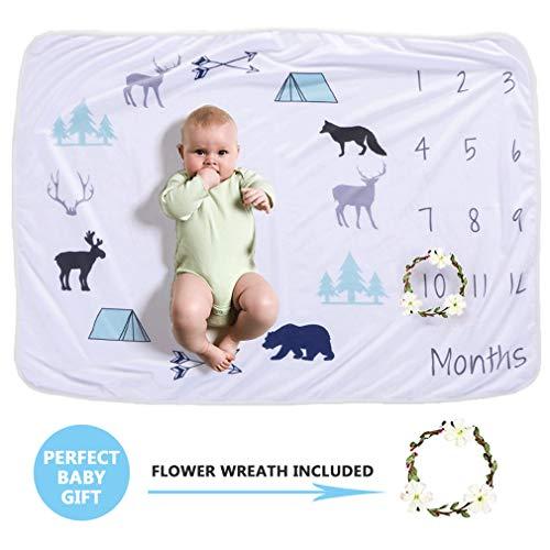 Milestone Decke für Neugeborene, Baby DIY Monatliche Milestone Fotografie Requisiten Shoots Hintergrund Tuch (Stil 4)