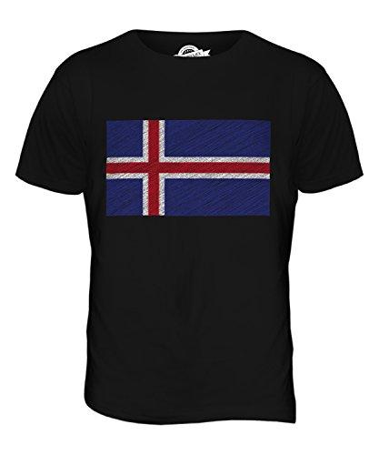 CandyMix Island Kritzelte Flagge Herren T Shirt Schwarz