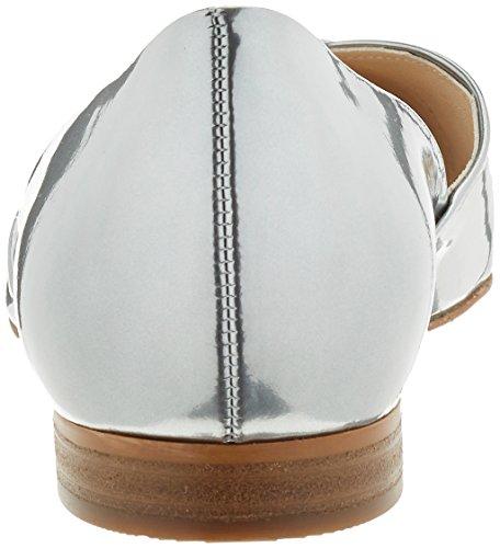 Högl Damen 3-10 2014 7600 Geschlossene Ballerinas Silber (silber7600)