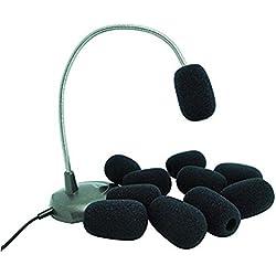VORCOOL Pare-brise de mousse, Mic Windshiled housses pour revers micro-cravate - 10pcs (noir)
