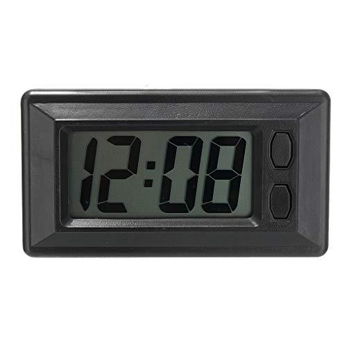 Preisvergleich Produktbild Ultra-dünne LCD-Digital-Display-Träger-Auto-Armaturenbrett-Zeit-Kalender anzeigen Klebepad Uhr