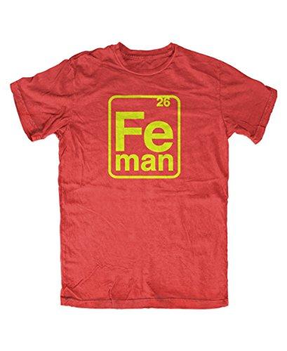 Iron Man FE-Man T-Shirt (XXL, Rot)