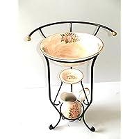 arterameferro Juego Baño Completo Lavabo de cerámica Toscana Rose 3Piezas con Hierro Forjado - Muebles de Dormitorio precios