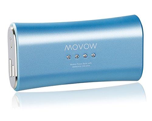 movow-Power Bank/Batteria/batteria esterna (USB, 5V/1a Output) con pietre Swarovski