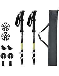 Kenove Kohlefaser Nordic-walking Stock/Stöcke mit EVA Grip für Outdoor Walking Trekking, Klettern, Schnee, Bergsteigen [2017 Neue Version]