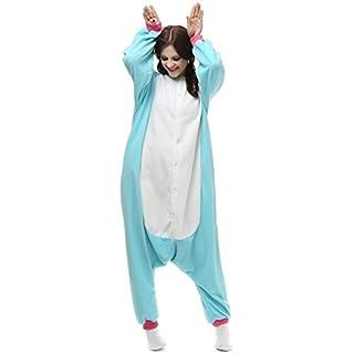 Aardvark Art Einhorn Pyjamas Kostüm Sleepsuit Anime Tier Schlafanzug Erwachsene Unisex Cosplay Halloween (Size XL for 178-188CM, Blue)