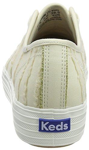Keds TPL Kick Eyelash Canvas Cream, Sneaker Donna Bianco (Off White)