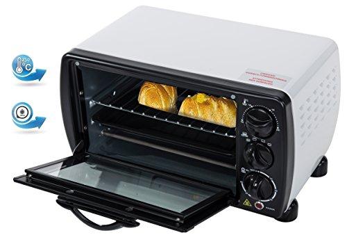 Mini Backofen 12 Liter 1000 Watt Ofen Kleiner Ofen Miniofen Temp. 100°-230° Ober - Unterhitze Timer