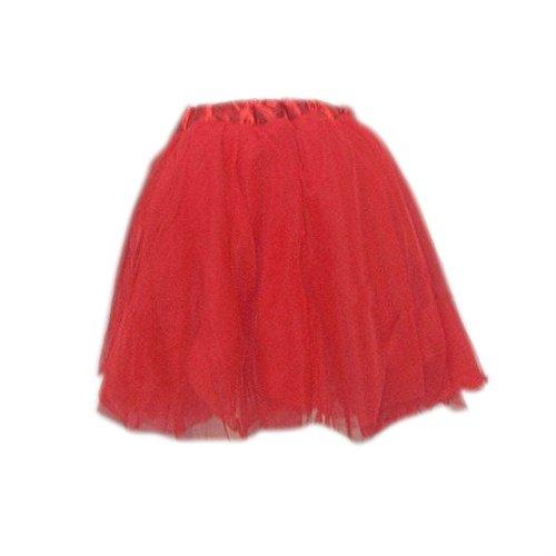 SODIAL(R) Robe de princesse Tutu de ballet Rouge pour enfants