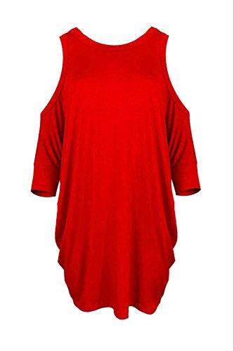 Sugerdiva - Robe - Ajourée - Femme red