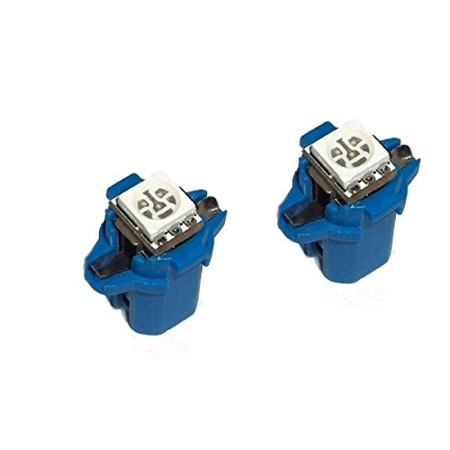 Akhan 851B - LED Ampoule Lampe voiture auto Blue T5 B8.3D BAX10S 12V tachymètre instrument d'éclairage