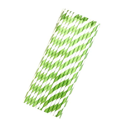 Y56 Strohhalme Papier,Papierstrohhalme 25pcs Einweg Strohhalme Disposable Drinking Straws Home Bar Party Cocktail Drink Straw Gastronomie (Grün) -