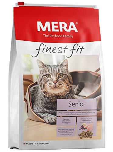 MERA finest fit Senior 8+ Katzenfutter – Weizenfreies Trockenfutter mit frischem Geflügel und Reis für die bedarfsgerechte Ernährung von Senioren Katzen