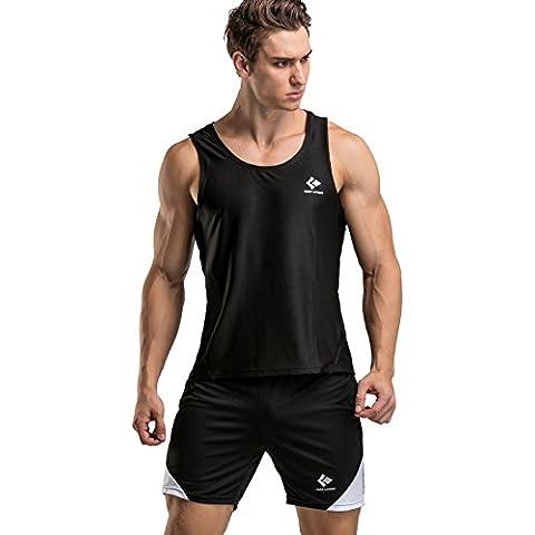 Cody Lundin uomo Compressione collant formazione Sport puro colore sottile