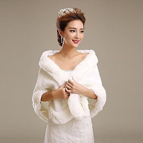 Fur involucri / Matrimonio Wraps Scialli Faux Fur maniche White Wedding / partito / sera / casuale anteriore aperto