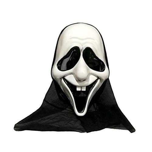 Gutsbox Halloween Unheimliche Maske Kunststoff-Umweltliche Maske Halloween Latex Maske Horror Maske Halloween Halloweenmaske für Halloween Make-up-Partys (Style3)