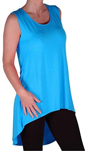 EyeCatch - Débardeur large bretelle long asymétrique - Julina - Femme - Grandes Tailles Turquoise