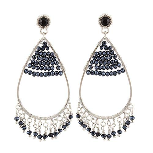 Baumeln Ohrringe für Frauen konfrontiert handgefertigten Kristall Ohrringe lange Anhänger Tropfen Ohrring Schmuck Party Brand Geschenke