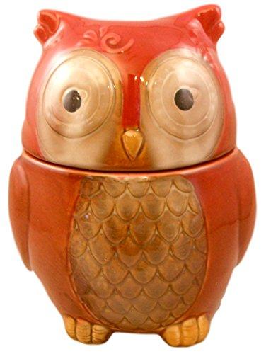 Keramik Eule Cookie Jar Rusty Red Keramik Cookie Jar