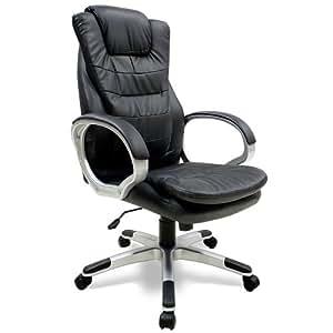 fauteuil chaise de bureau ergonomique chaise gamer pc noir. Black Bedroom Furniture Sets. Home Design Ideas